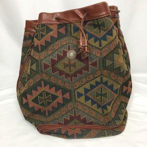Capezio Vintage Tapestry Bucket Bag